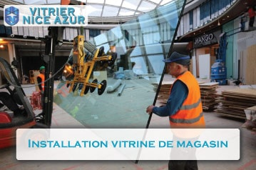 Installation Vitrine De Magasin